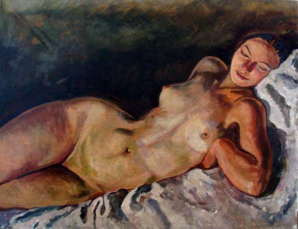 model home modern erotic painting art