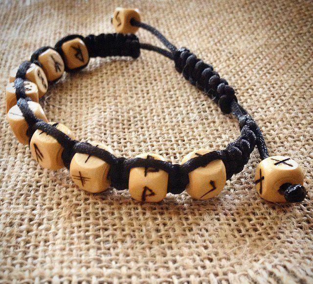 bracelet gift runes handmade