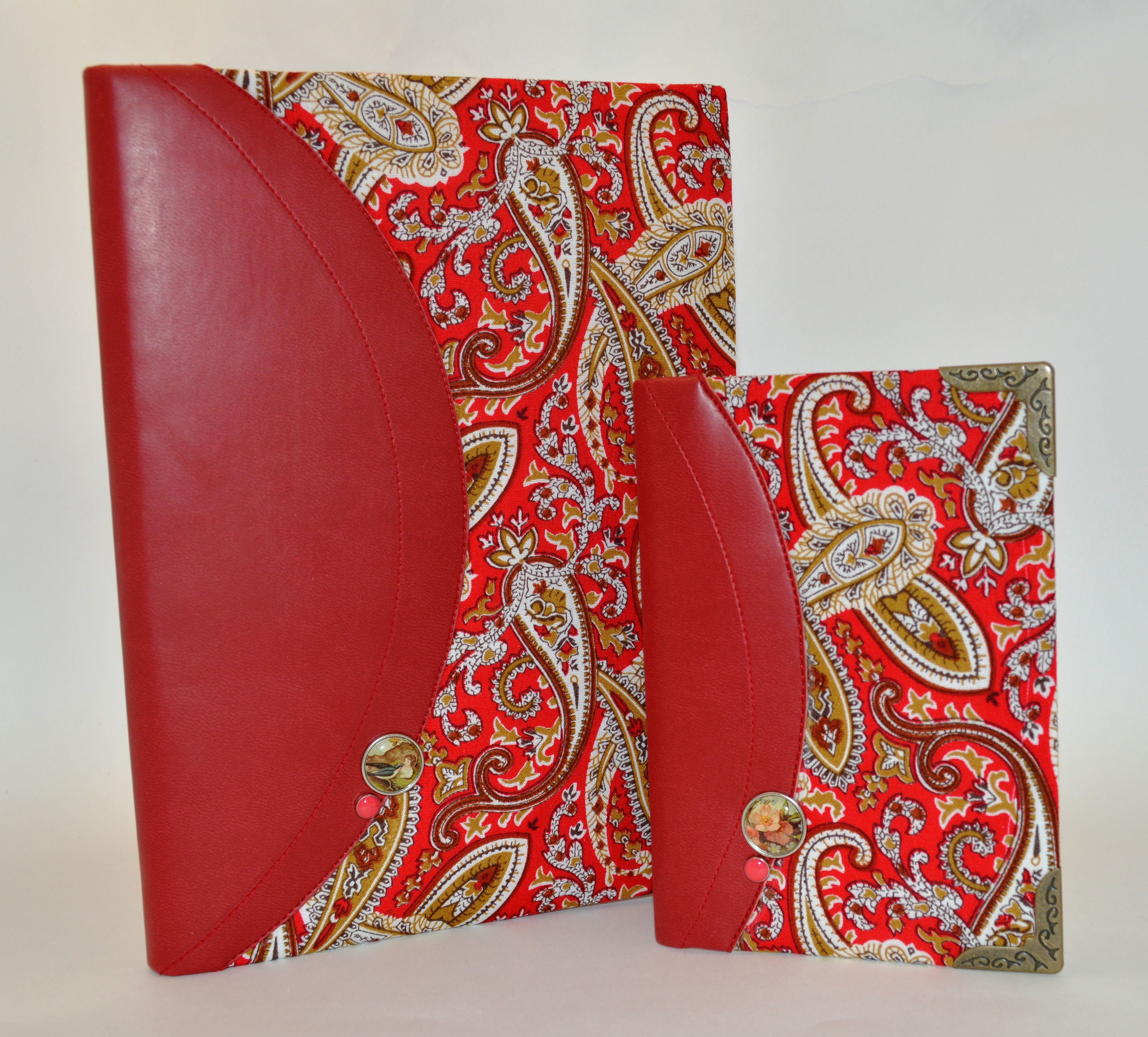 cover leather notepad red passport synthetic