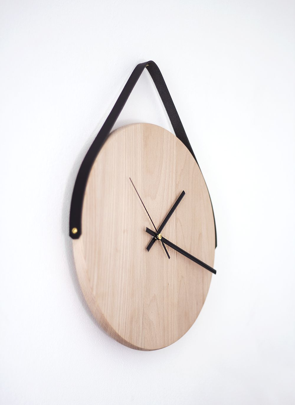 wood decor wooden home clock house original recycling