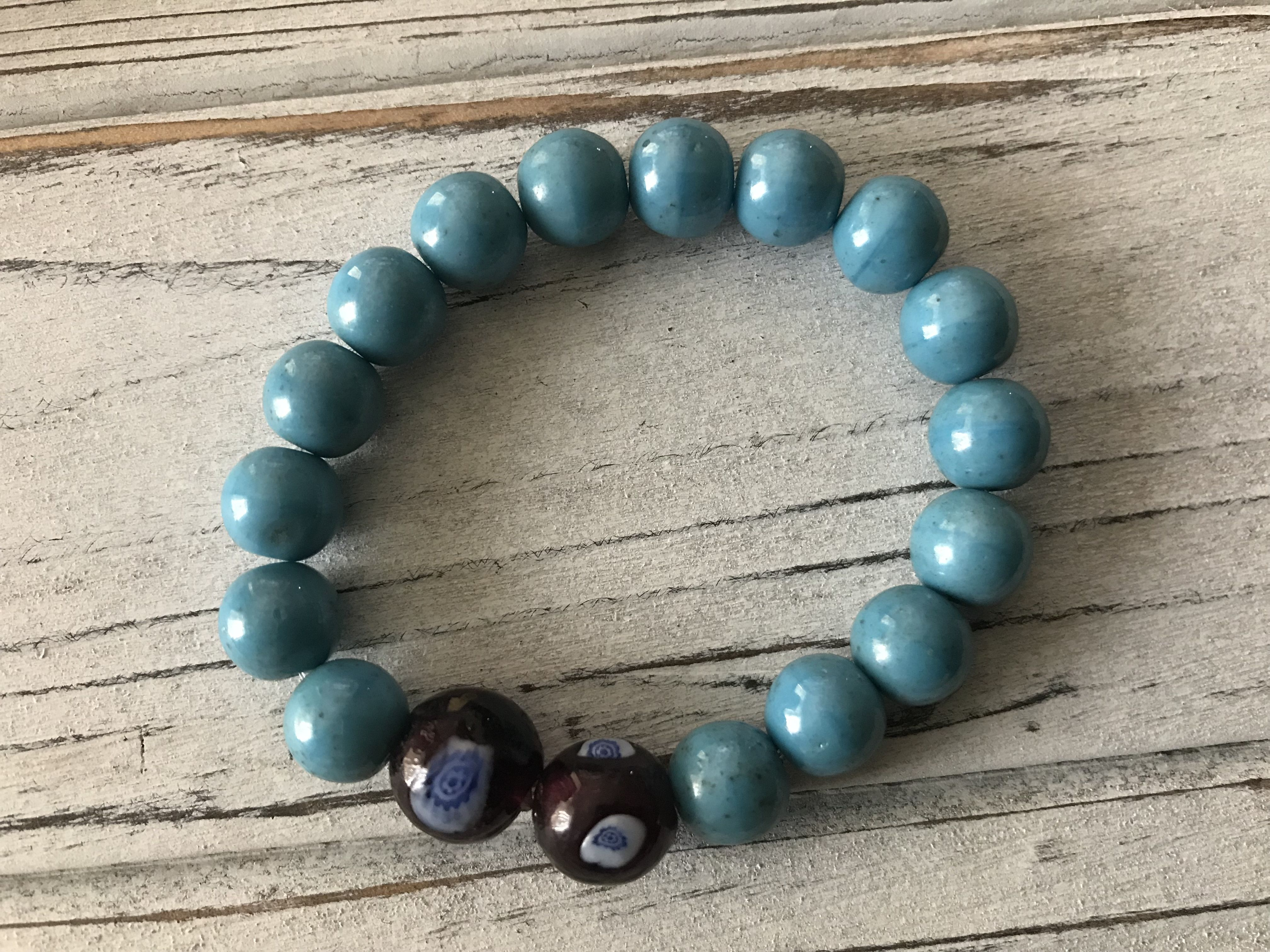 positiveenergy madewithlove healingstones forhim forher stretch gemstones turquoise handmade stackable