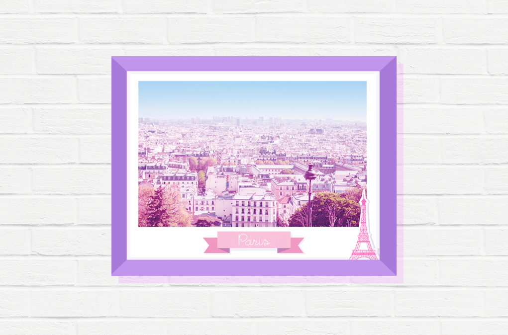 urban poster paris decor pink gift wall travel photography home print eiffel tower her for art