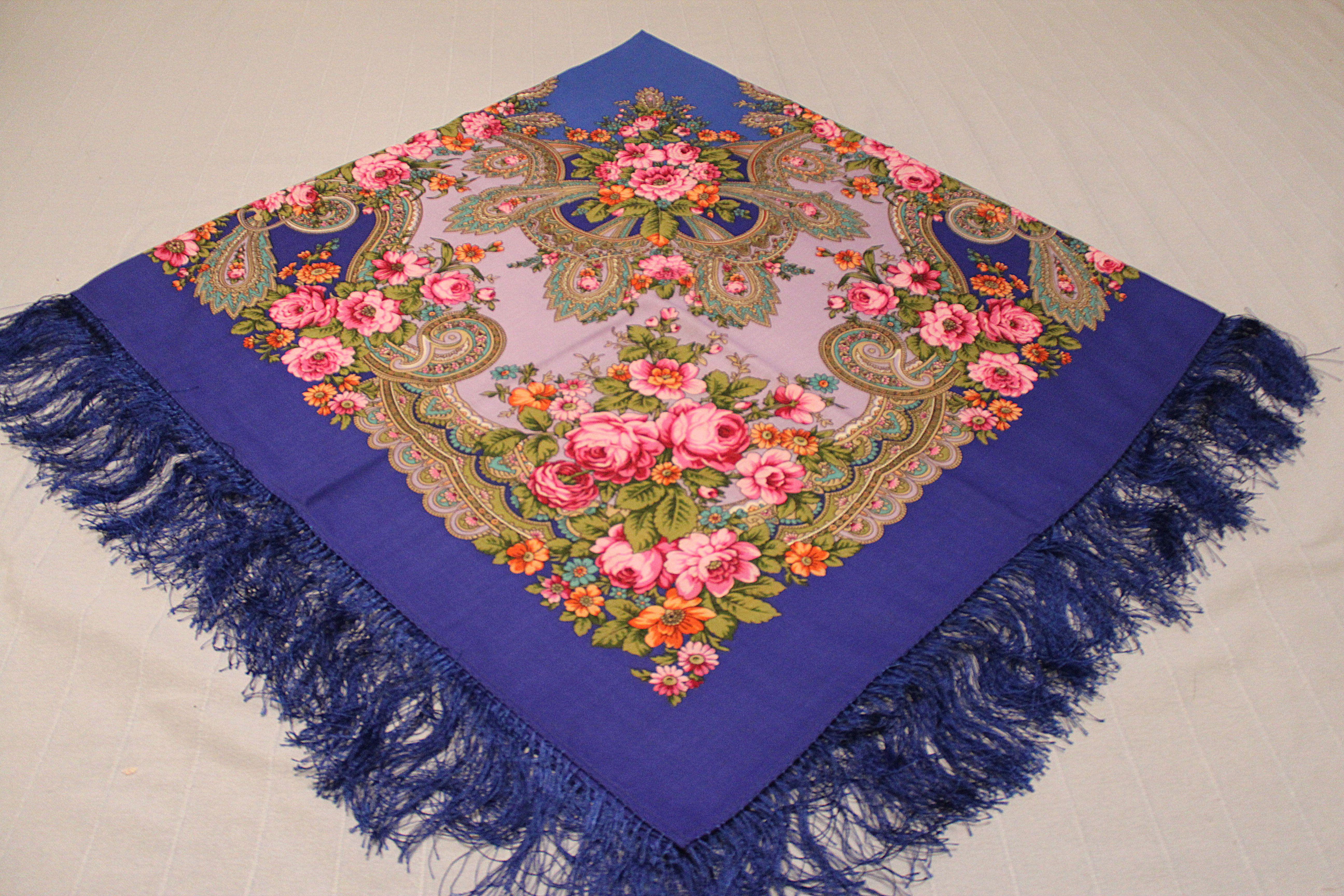 handmade gift vintage scarf knitting
