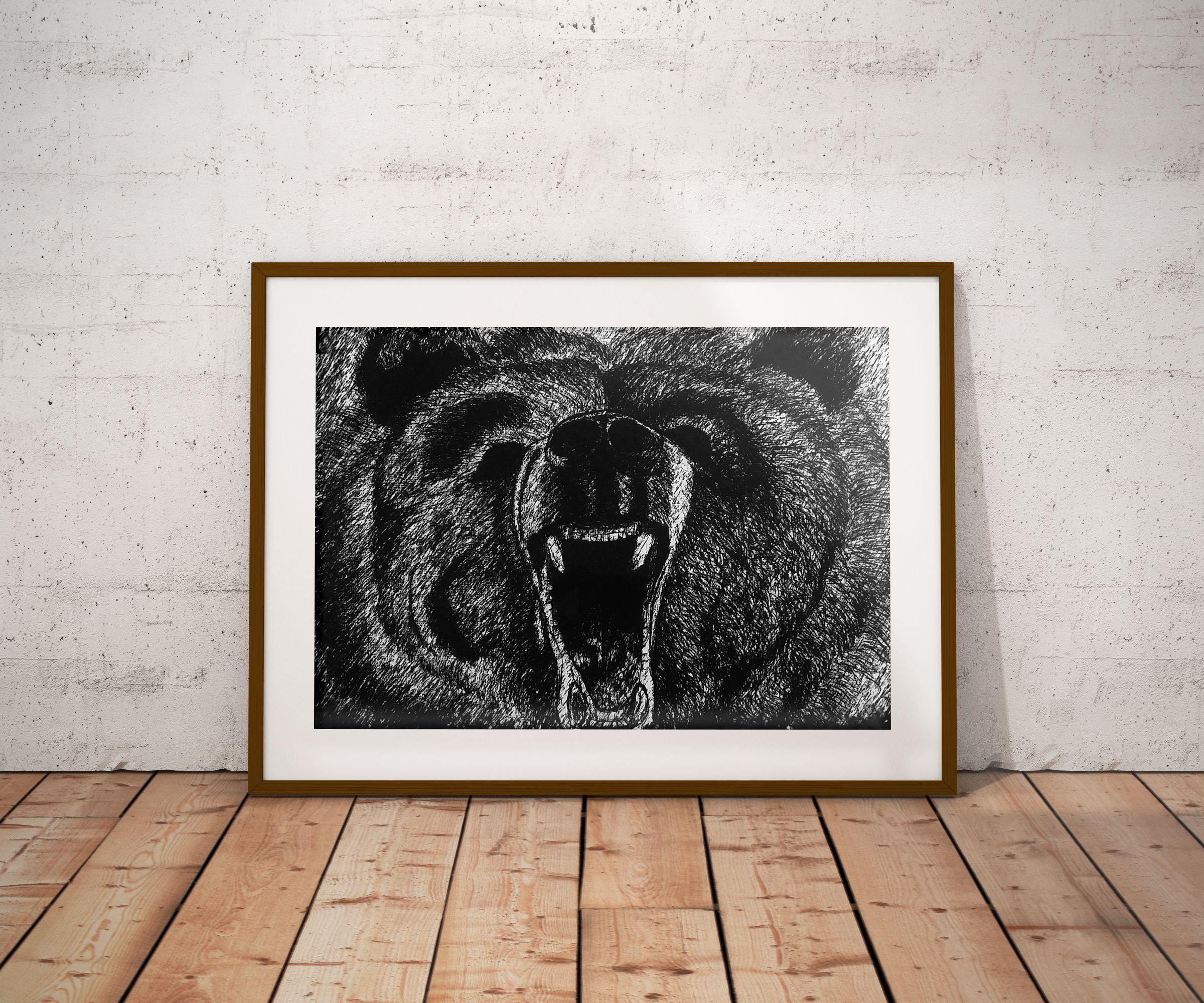 angry decor roaring gift roar wild present hunter hunt halloween hunting cave wildlife home christmas man animal bear