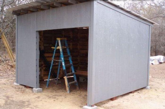 pallet shed make wood handicrafts