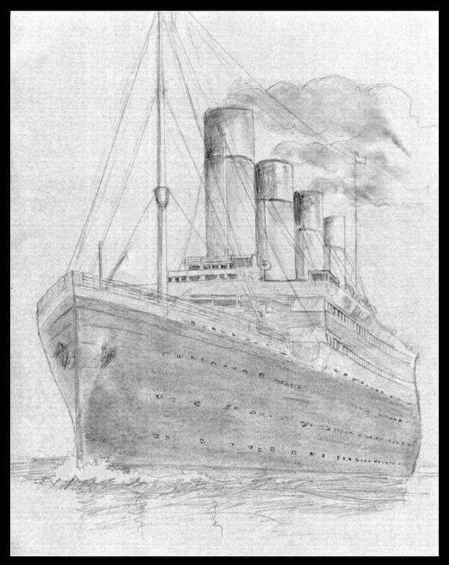 titanic art pencil ship draw
