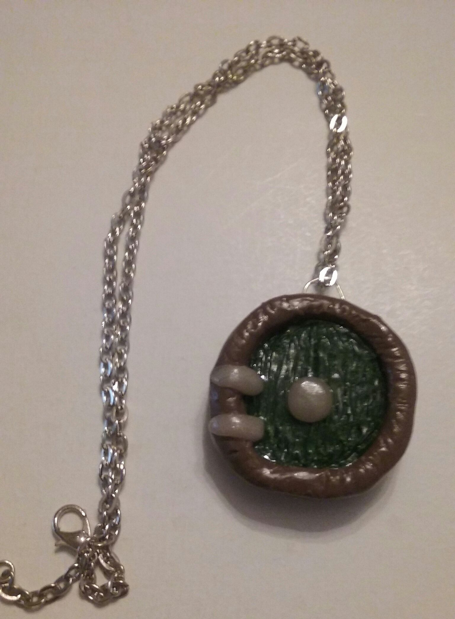medieval fantasy fairy necklace clay door