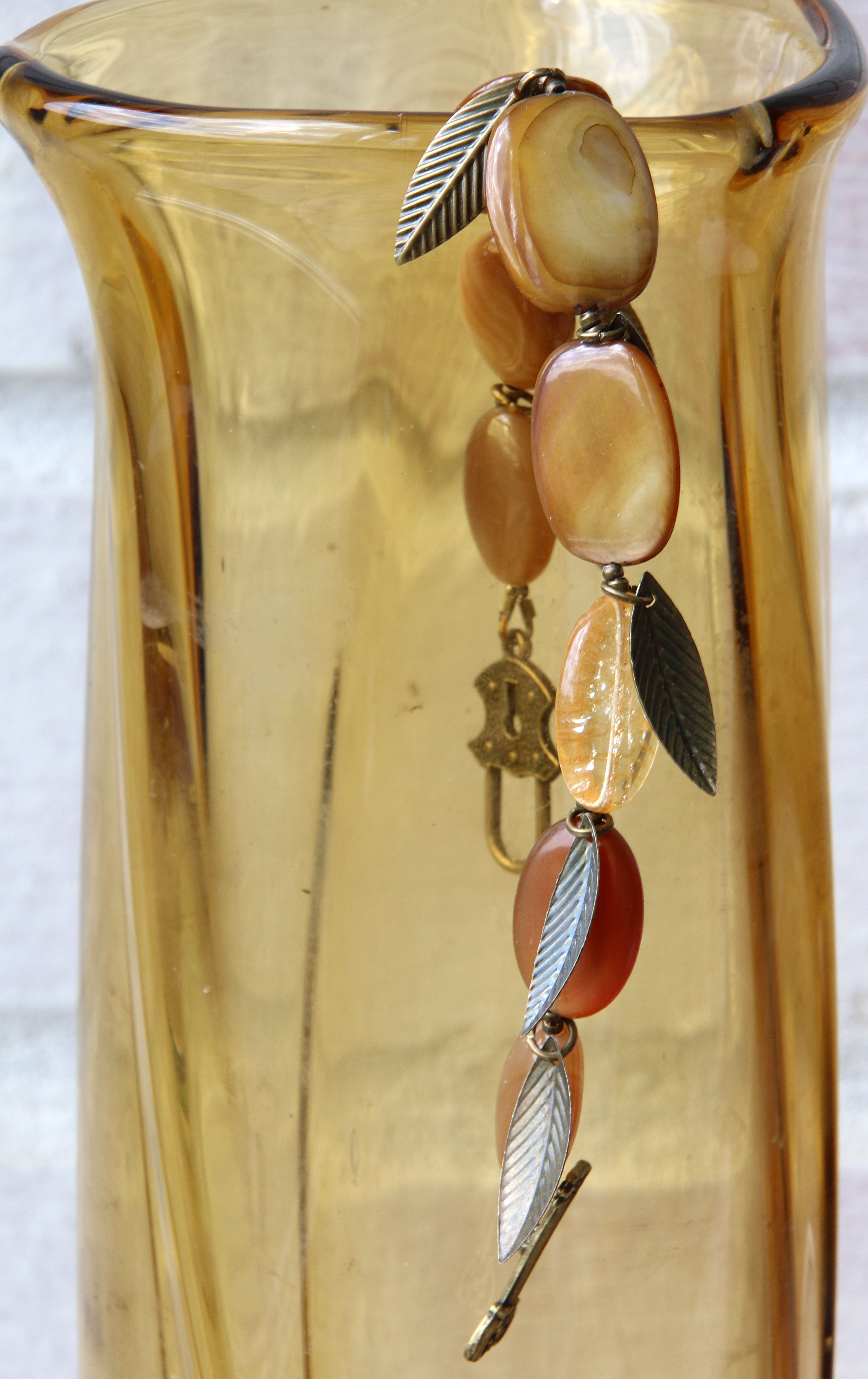 wristlet brown orange jewelry sunny