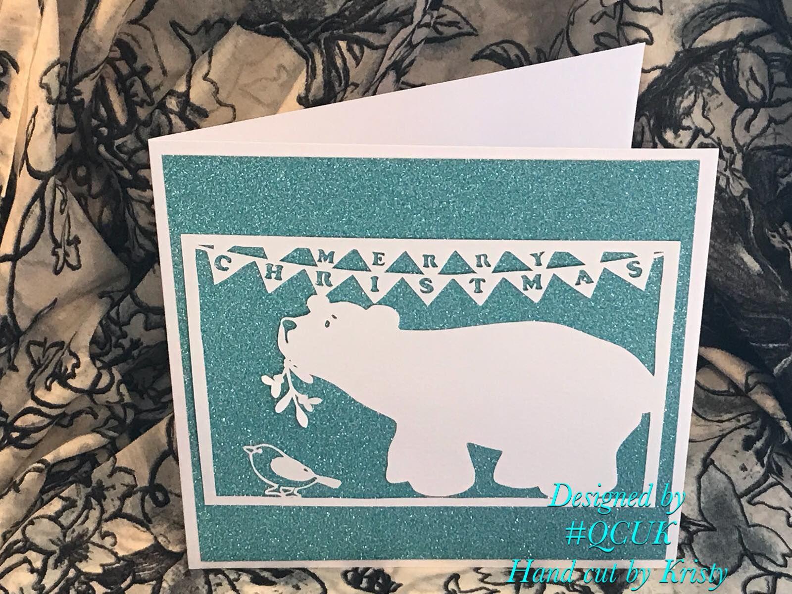 robin card quirkycraftsuk polar mistletoe greetings and xmas bird qcuk christmas merry bear making