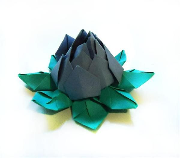 hack lotus origami paper flower