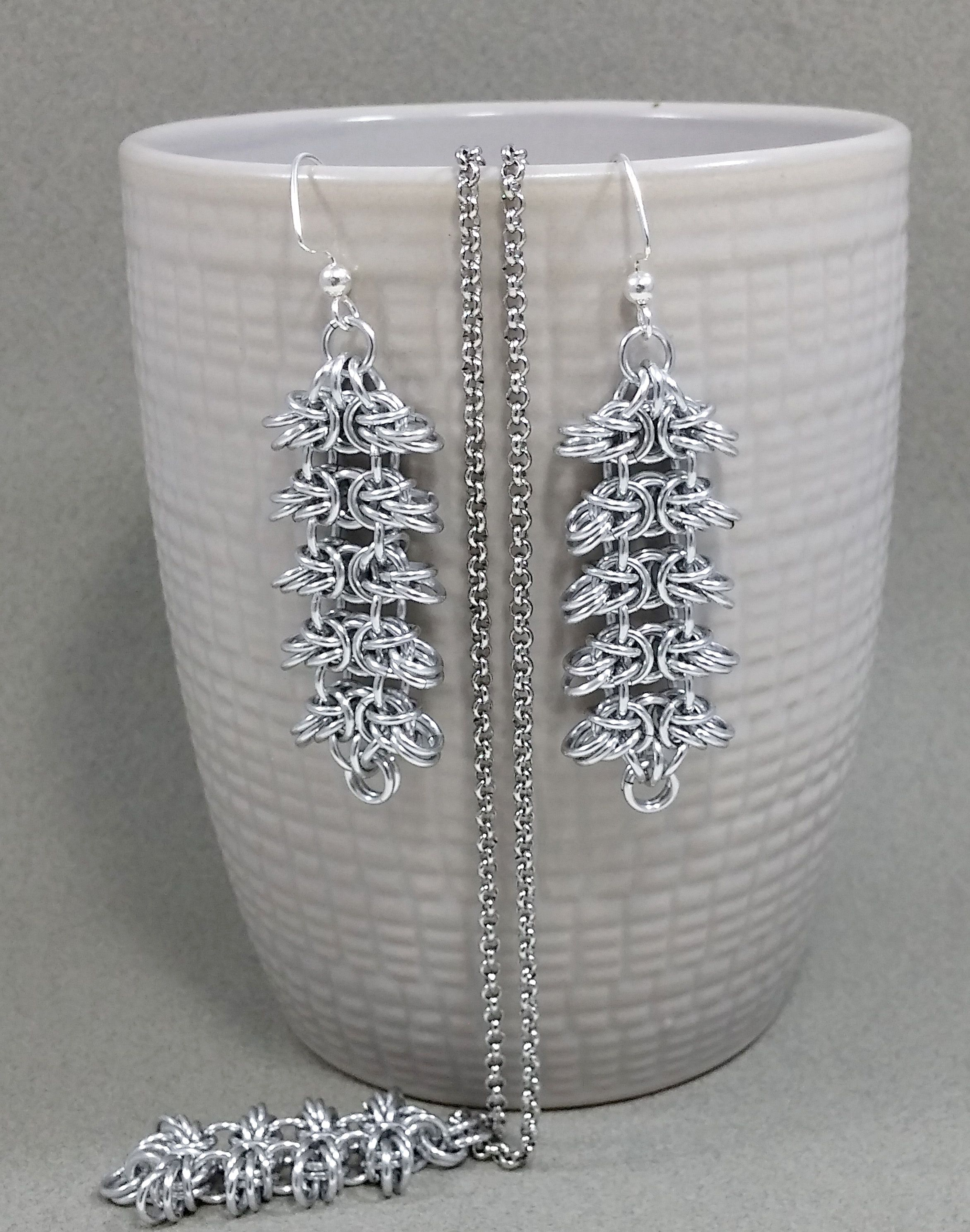 earrings silver jewelryset aluminium elegance everydaywear christmas christmastree necklace jewelry