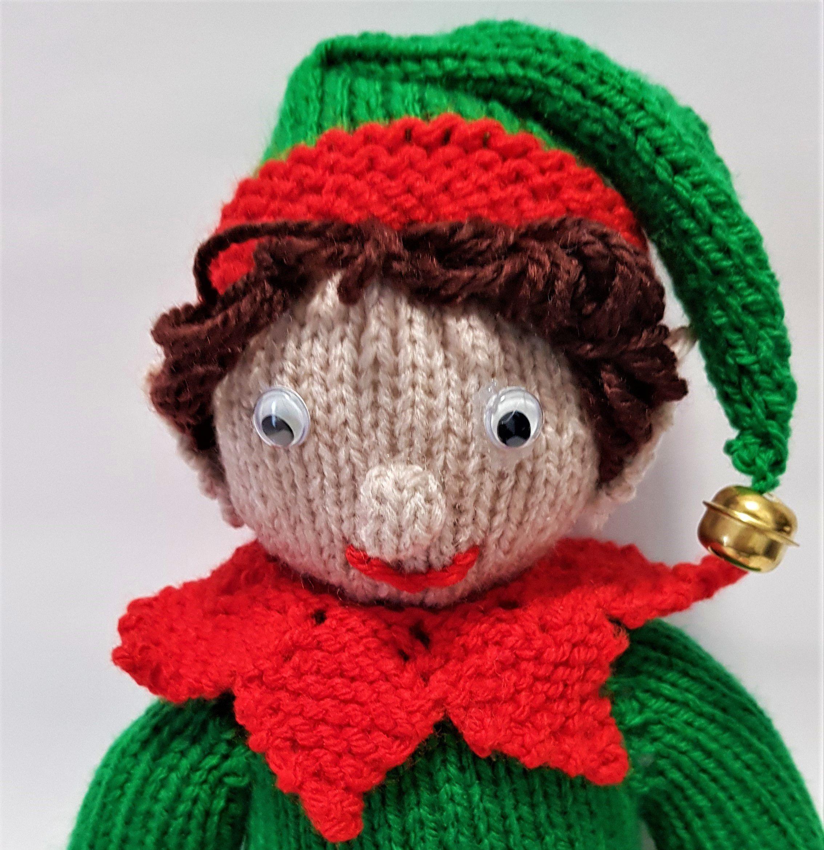 plushtoy stuffedtoy knittedelf elfontheshelf santaself christmaself knittedtoy helperelf santashelper christmastoy elftoy
