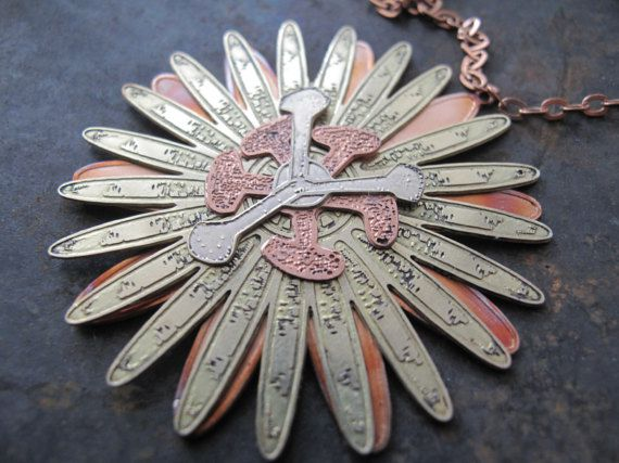 copper jewelry necklace brass flower passion