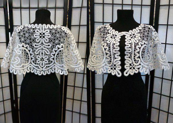 white clothes knitting bobbines jacket lace