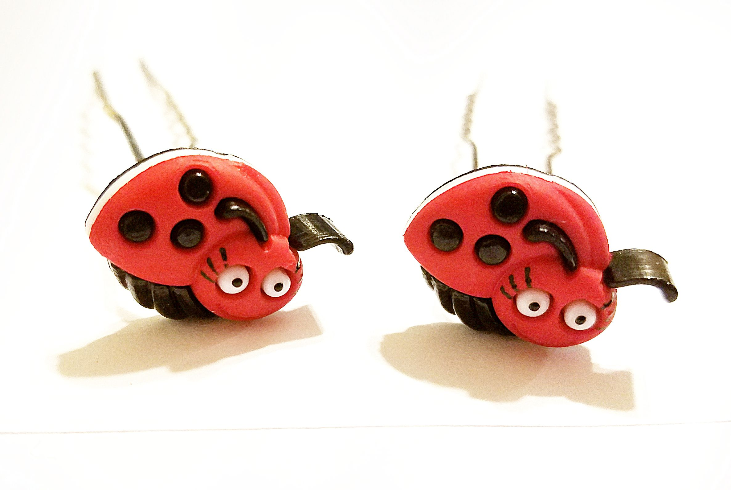 giftsforher uniquegifts kriszcreations laddybugs hairpin hairjewelry