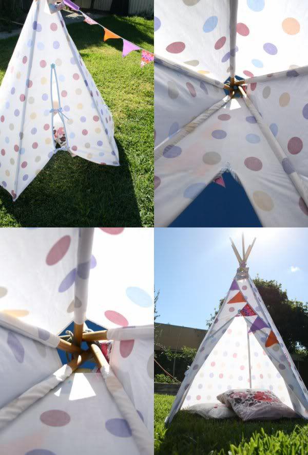 house cloth canopy indian teepee