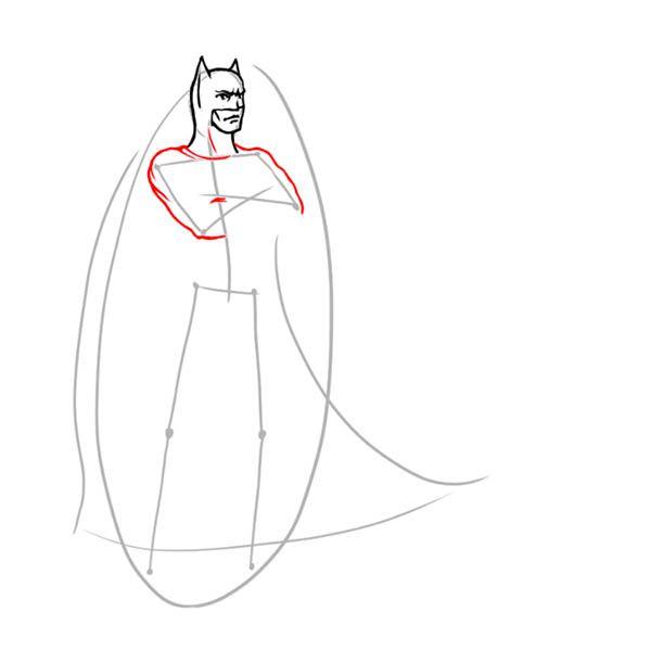 paint batman draw steps art