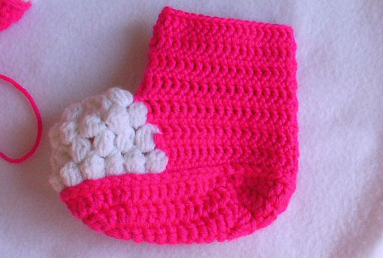 goods baby crochet textile booties