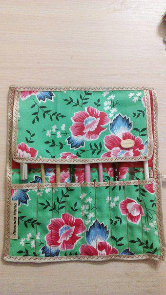flowers textile cosmetics case