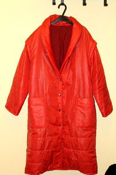 retro vintage clothes coat red