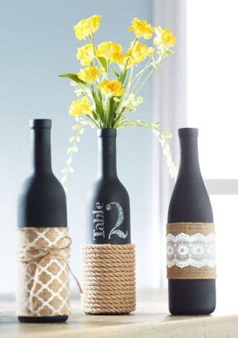 bottle beautiful art decor recycling wine