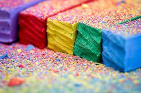 fun handicraft coloredchalk handmade art craft children game homemade diy colours