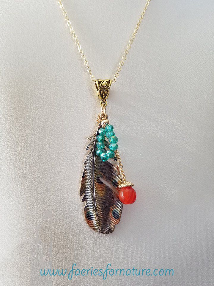 nature bohemian american native charm boho tribal feather necklaces indian gold turquoise jewelry necklace