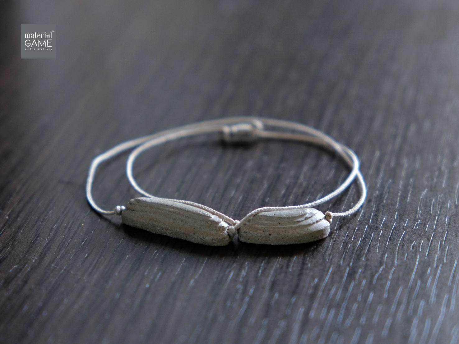 sliding forher concrete grey jewelry bracelete minimalist