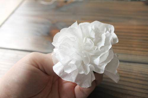 flowers decor craft paper gradually
