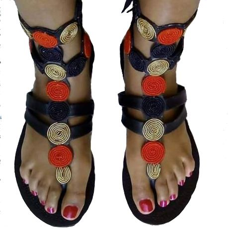 handmade leather shoes beadwork clothing sandals kenya gladiators
