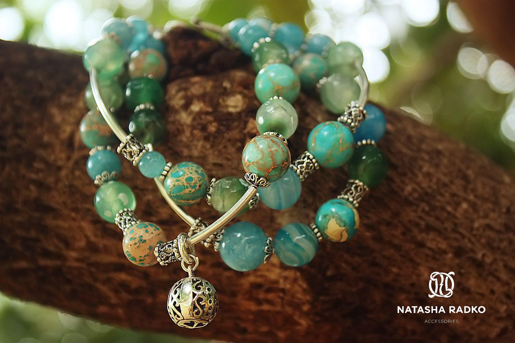 variscite agate wristlet emerald