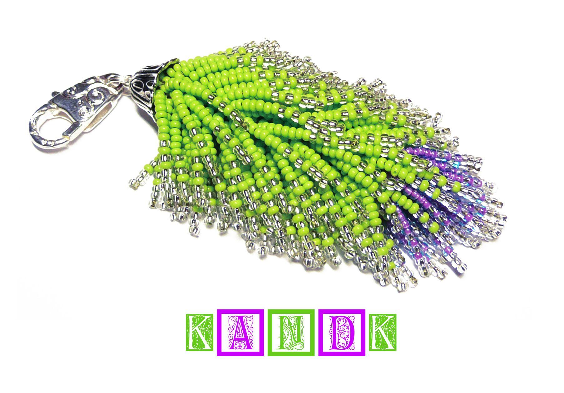 fox handmade beads keycahin kandk