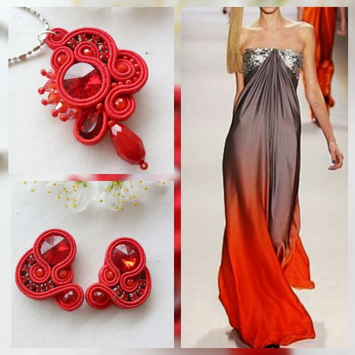 unique christmasgift christmas jewelryset elegantjewelry elegantset parure redset