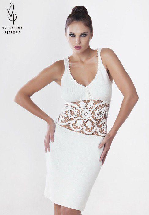 handmade unique luxury dress decor silk white