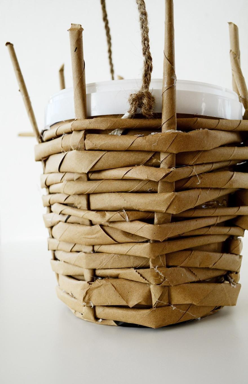 decor interior diy idea plants paperbag paperdecoration housedecoration paperpot pot creative