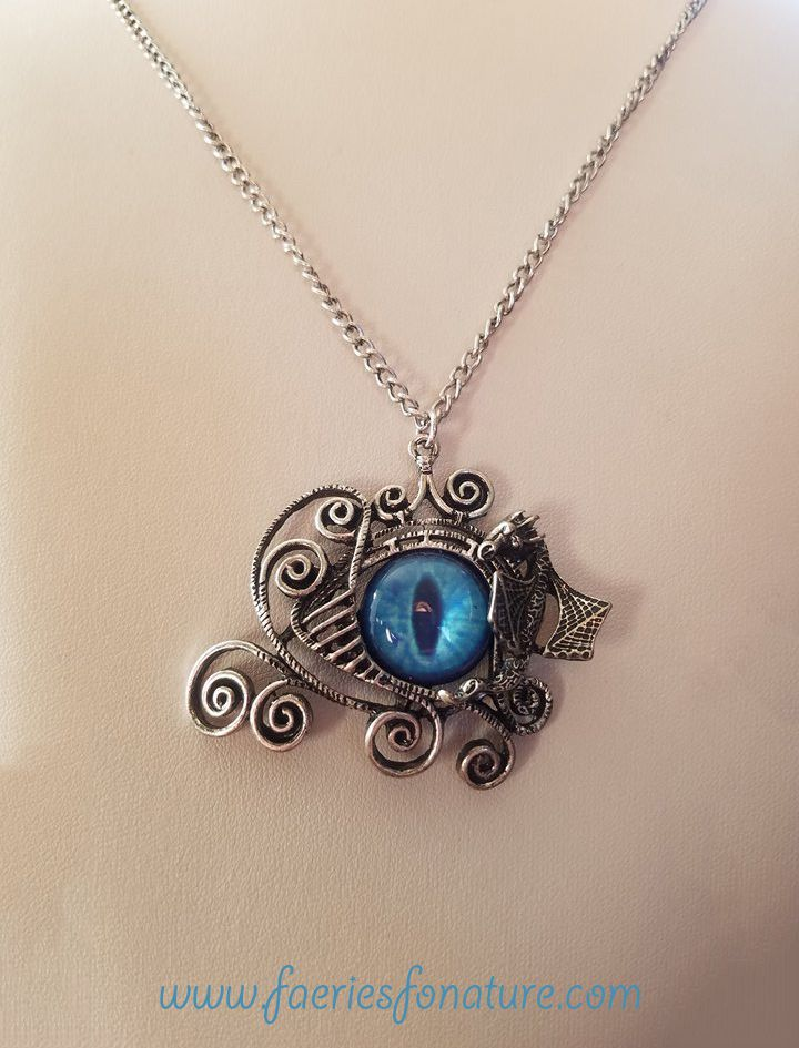 dragon fantasy wire pendant and dragons dungeons geekery wrapped eye necklaces jewelry necklace charm