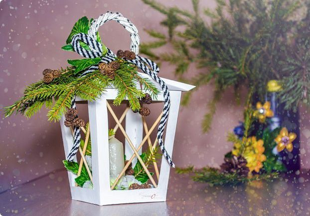 candle lantern diy fircones christmas handmade handicraft christmasdecoration homedecor