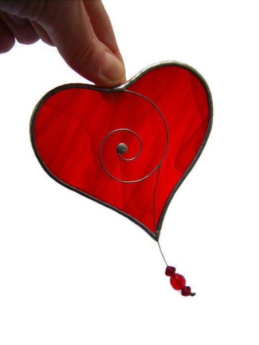 glass suncatcher beads sun stained love romantic bemyvalentine iloveyou engagement heart valentine fiancee giftforwife loveheart redheart wedding window wife hanger girlfriend her gift anniversary catcher valentinesday