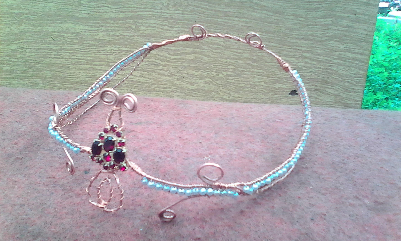 wrap wire copper crown elf diadem