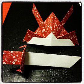 hat scheme folding origami paper