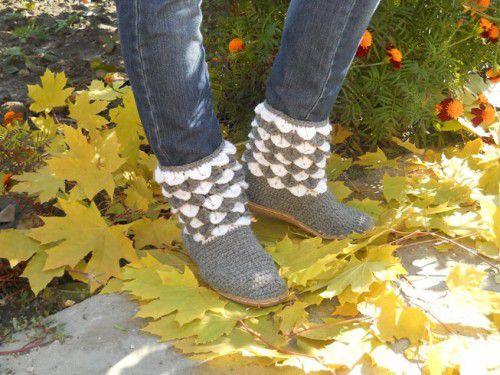 boots goods textile footwear crochet