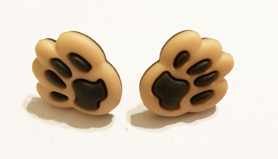 giftsforher kriszcreations earrings unique jewelry animalpawprint