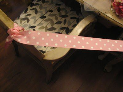 tulle tablecloth skirt ribbon table