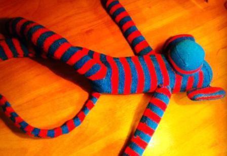 toy monkey sock soft make