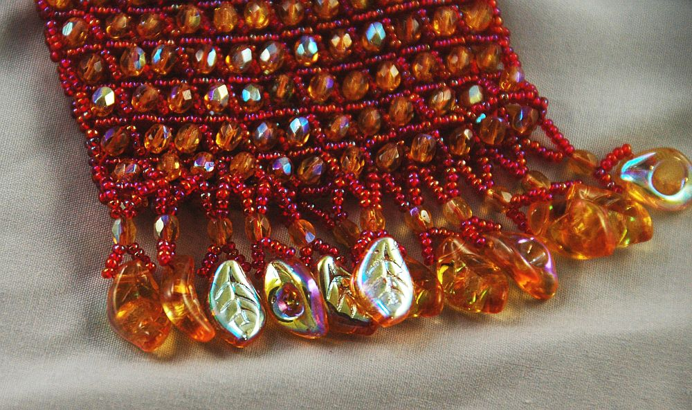 bag american wire wrapp fringe crystal angle raw right leaves red gold jewelry necklace native amulet weave spiritual