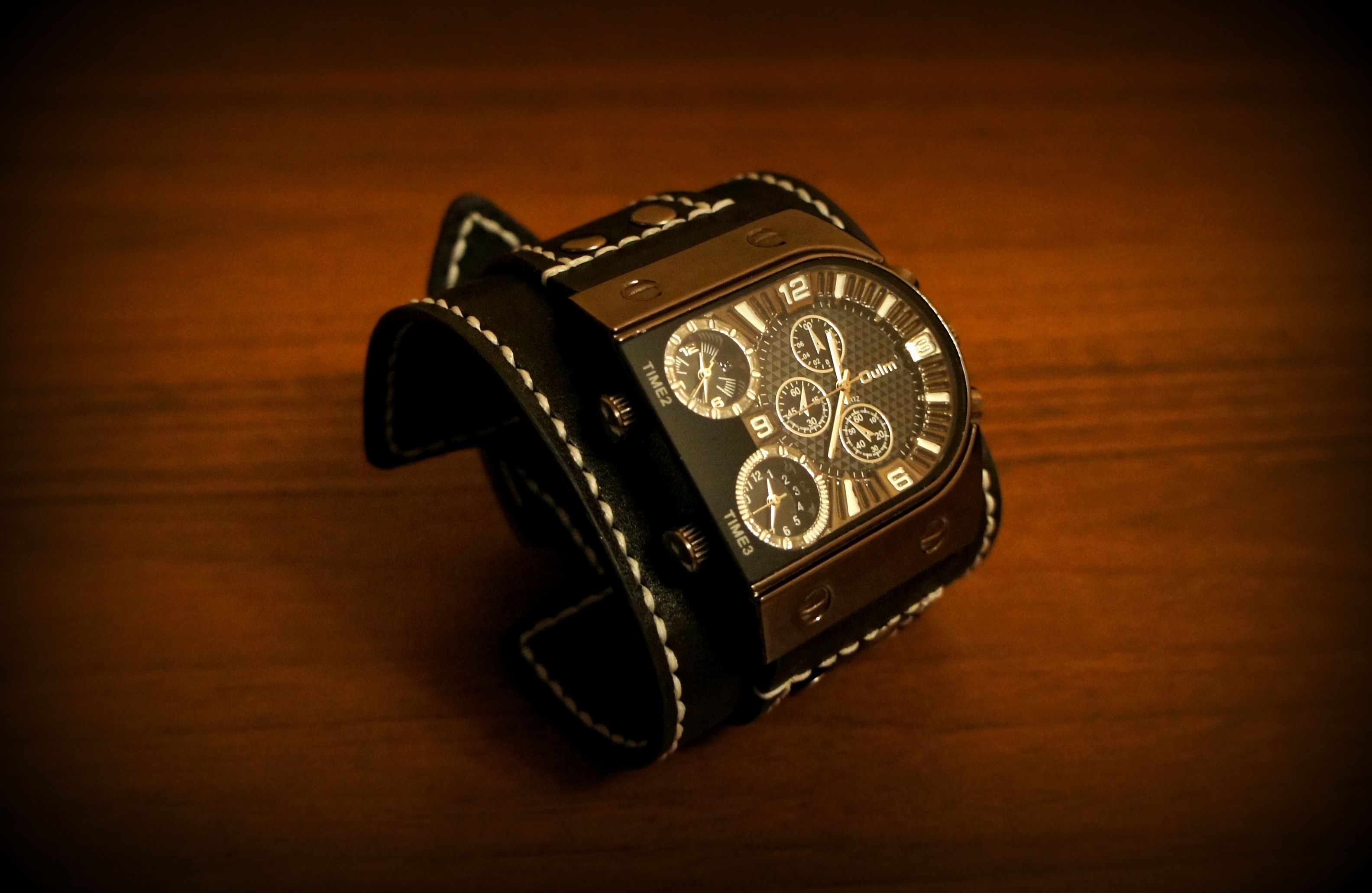 leather accessories men brown watch style