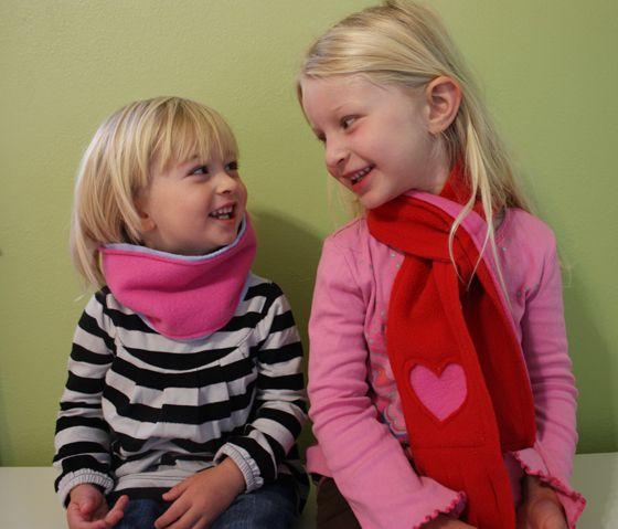 fleece scarf make clothing