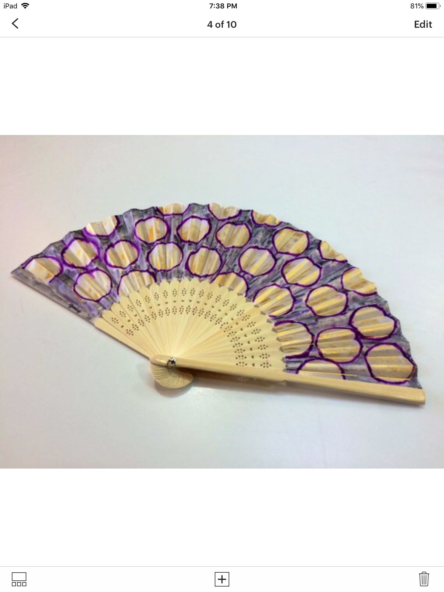 unique hand painted accessory fan wedding