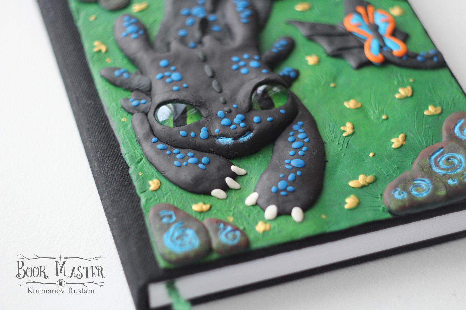 handmade notebook nightfury