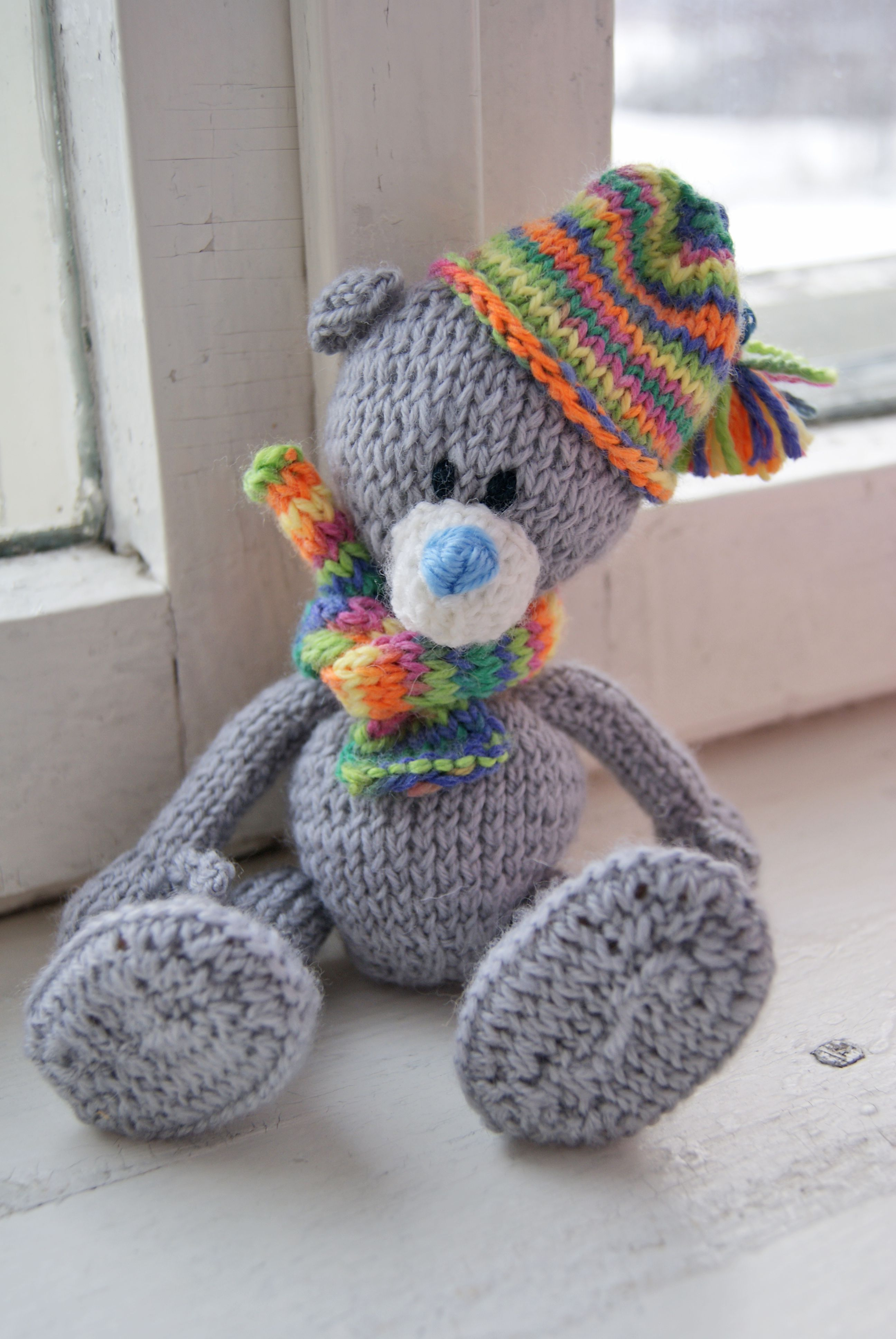 toy gift children teddy warn bear knit